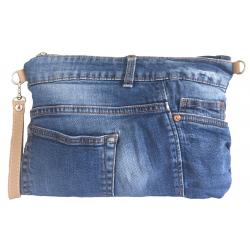Pochette et sac bandoulière en jean