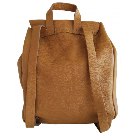 Sac à dos en cuir Domini pour femme taille M, made in Italy