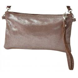 Pochette et sac bandoulière en cuir Massa Lumi