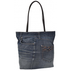 Sac shopping en jeans made in Italy Gropina