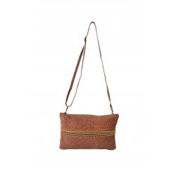 Pochette et sac bandoulière en cuir Grosseto