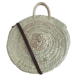 Grand sac rond en paille - BDN-PAI-3