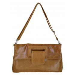 Pochette et sac bandoulière en cuir, Bratto
