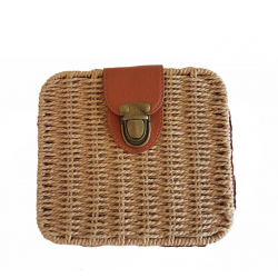 Sac shopping carré en paille - BDN-51264