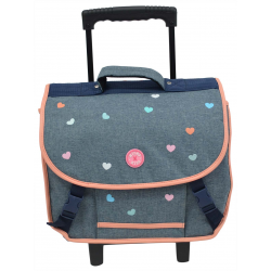 Cartable à roulettes Milky Kiss - 037-8735