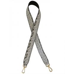 Bandoulière réversible cuir imprimé python, Made in Italy