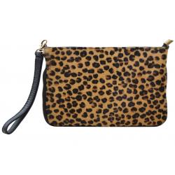 Pochette imprimé léopard en cuir - FR-FIR03