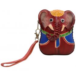 Porte-monnaie éléphant en cuir - FR-FIR04-elephant