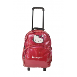 Sac à dos à roulettes fille Hello Kitty en synthétique vernis